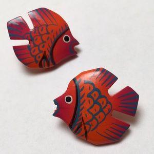 80's Fish Earrings